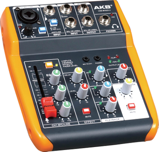 USBMIXER-4 USB mixer for laptop studio