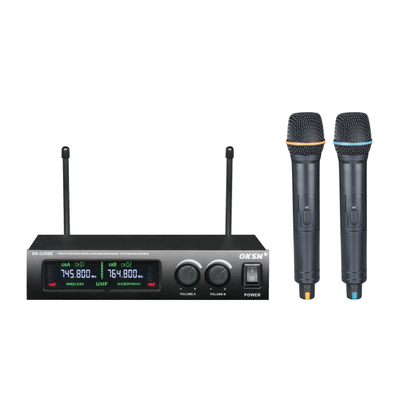 SN-2988 metal two handheld VHF wireless microphone